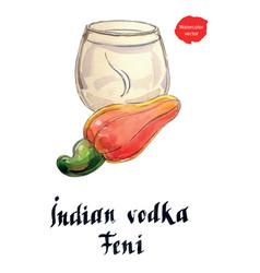 Indian vodka feni it means cashew vector