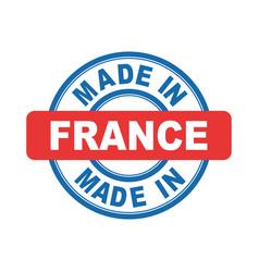 made in france emblem flat vector image vector image