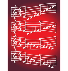 Musical scale and notes vector image