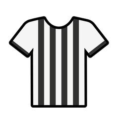 referee shirt uniform icon vector image