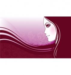 girl flower vector image vector image