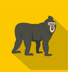 mandrill icon flat style vector image vector image