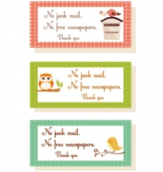 thank you cards vector image