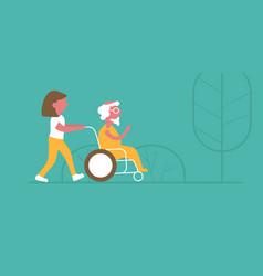 A a walk in a nursing home vector