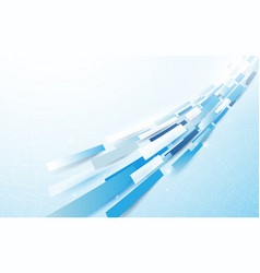 abstract blue and white rectangles line motion vector image