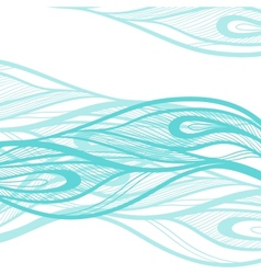 abstract hand drawn decorative waves background vector image