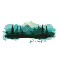 Abstract landscape indonesian island of vector