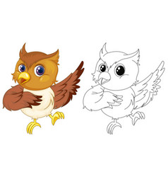 animal outline for cute owl vector image