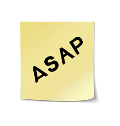 asap lettering on sticky note vector image