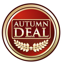 Autumn Deal Vintage Label vector image