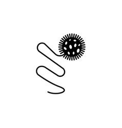 bacterium icon element of virus icon premium vector image