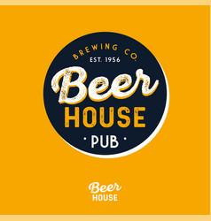 Beer house logo pub brewing company vector