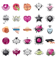 biggest collection of logos Fashion and Beauty vector image
