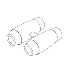 Binoculars icon isometric 3d style vector image