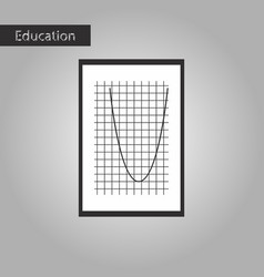 Black and white style icon mathematics graph vector