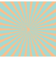 Blue orange sunburst starburst with ray of light vector