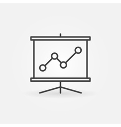 Business presentation line icon vector