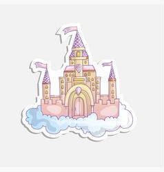 cartoon of pink princess magic vector image