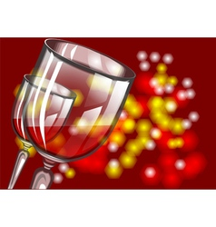 christmas wine vector image