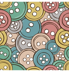 colored buttons seamless pattern vector image