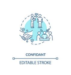 Confidant concept icon vector