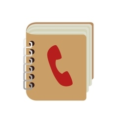 Contacts book phones notebook vector
