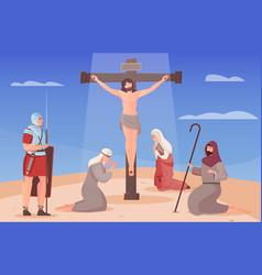 crucified jesus vector image