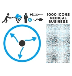 Curve Arrows Icon with 1000 Medical Business vector image