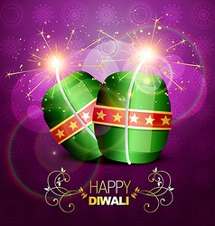 Diwali crackers background vector