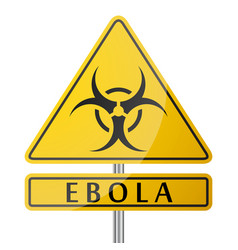 Ebola danger yellow poster vector
