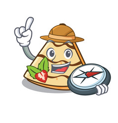 Explorer crepe mascot cartoon style vector