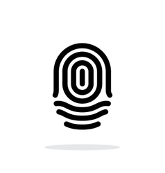 Fingerprint whorl type icon on white background vector image