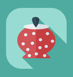 Flat modern design with shadow icons sugar-bowl vector