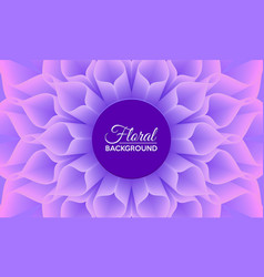 floral background with close up detail big vector image