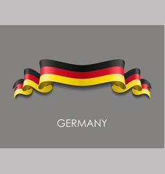 german flag wavy ribbon background vector image