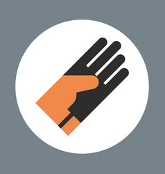 Glove icon working hand tool equipment concept vector