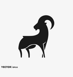 goat silhouette logo vector image
