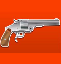 gun handgun pistol or revolver vector image