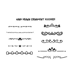 hand drawn dividers set vector image