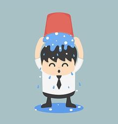 Ice bucket challenge business vector