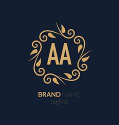 Initial letter aa creative elegant logo template vector