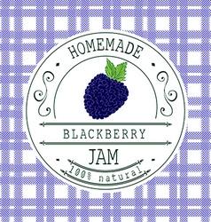 Jam label design template for Blackberry dessert vector image
