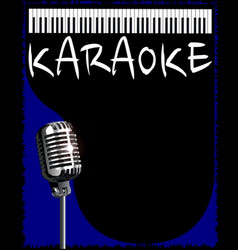 Karaoke night vector
