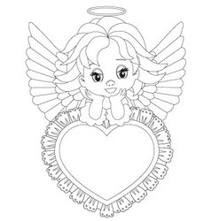 Angel Coloring Page Vector Images Over 100