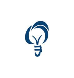 llightbulb idea logo concept vector image