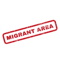 Migrant Area Rubber Stamp vector image