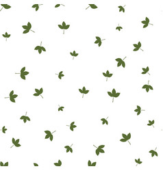 montpelier maple leaf green pattern seamless vector image