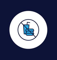 no food icon sign symbol vector image