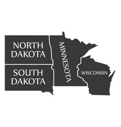North dakota - south dakota - minnesota vector