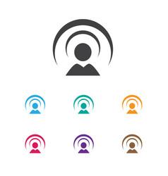 Of internet symbol on network vector